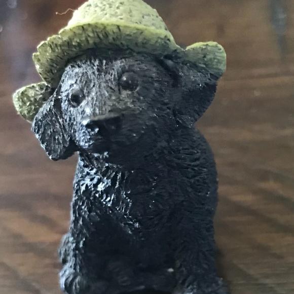 Mini labrador retriever figurine ceramic
